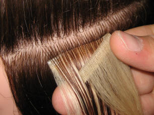 taped and clip in hair extensions and wefts in cornwall